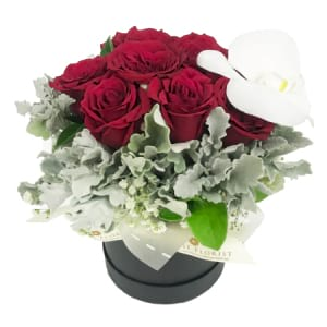 Elegant Love - 10 red roses arrangement