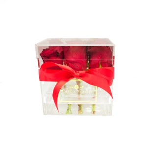 Roses in a Clear Box (Small)