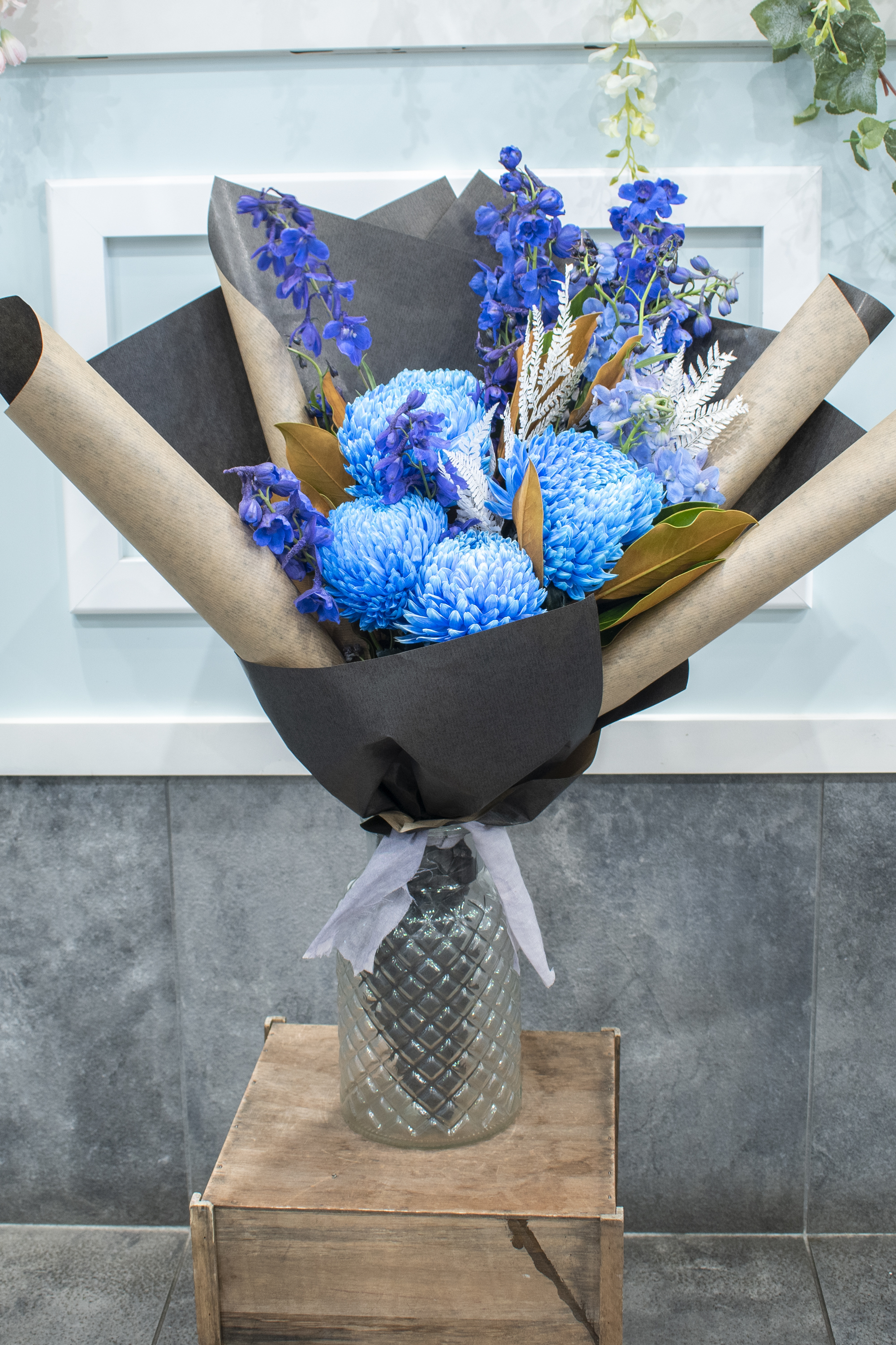 Blue Disbud Bouquet